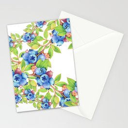 Wild Blueberries Lattice Stationery Cards