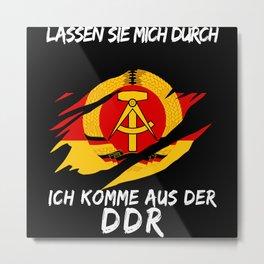GDR And Ossi Saying Funny East Joke Metal Print