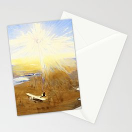 Flying Over the Desert at Sunset, Mesopotamia, watercolor - Sydney William Carline Stationery Cards