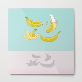 Flying Banana Metal Print