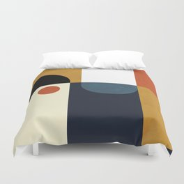 mid century abstract shapes fall winter 4 Duvet Cover