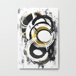 Abstract Painting No. 1 | gold Metal Print