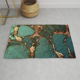 IZZIPIXX - EMERALD AND GOLD Rug