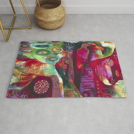 """""""True Nature"""" Original Painting by Flora Bowley Rug"""