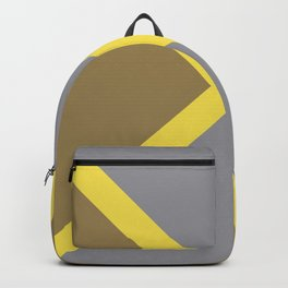 Grey Yellow Brown X Shape Design Solid Colors 2021 Color of the Years and Accent Hue Backpack
