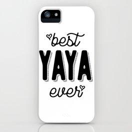 Womens Best Yaya Ever Heart Yia-yia Grandma Gift iPhone Case