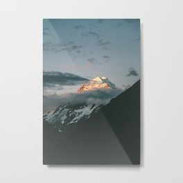 The majestic Aoraki / Mt Cook at dusk Metal Print