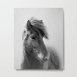Horses - Black & White 6 Metal Print