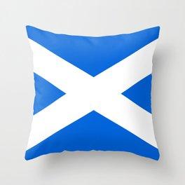 Scottish Flag Throw Pillow