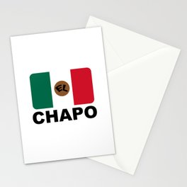 El Chapo Mexican flag Stationery Cards