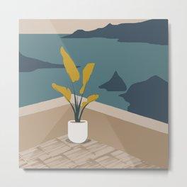 Ocean View from Coastal Balcony Metal Print