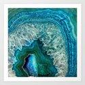 Aqua turquoise agate mineral gem stone by originalaufnahme