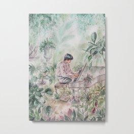 Piano (Watercolor Painting) Metal Print