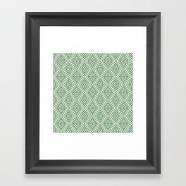 SW Pattern in Green Framed Art Print