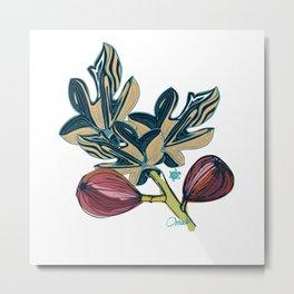 Pysanky - Figs geometric and doodle Metal Print