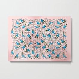 Birds in Spring Metal Print