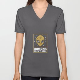 Humans Aren't Real Unisex V-Neck