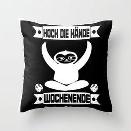 Sloth Party Throw Pillow
