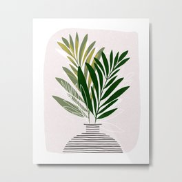Olive Branches / Contemporary Botanical Art Metal Print