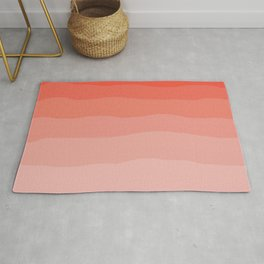 Living Coral Ombre Rug