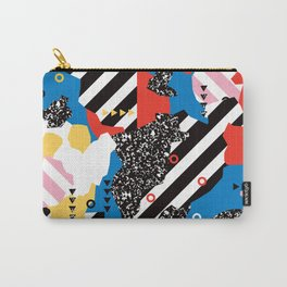 Colorful Modern Geometric Memphis - Tribal 80s 90s midcentury Carry-All Pouch