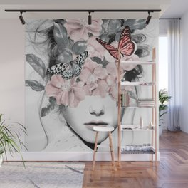 WOMAN WITH FLOWERS 10 Wall Mural
