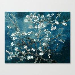 Van Gogh Almond Blossoms : Dark Teal Leinwanddruck