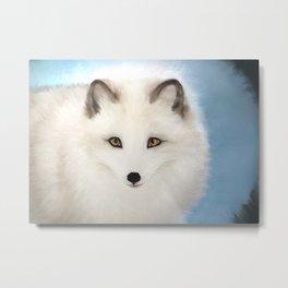 Inquisitive Arctic Fox Metal Print