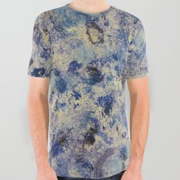 Blue Swirls in Acrylic All Over Graphic Tee