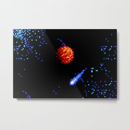 The Voyage of a Wishing Star Metal Print