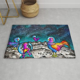 Space Chickens Rug