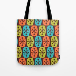 Mid Century Modern Atomic Fusion Pattern 934 Tote Bag
