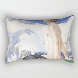 Flora of the Alps Rectangular Pillow