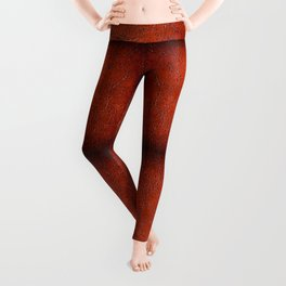Brown puckered leather material abstract Leggings