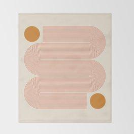 Abstraction_SUN_LINE_ART_Minimalism_002 Throw Blanket