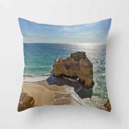 Praia da Rocha rock formation Throw Pillow