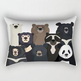 Bear family portrait Rectangular Pillow
