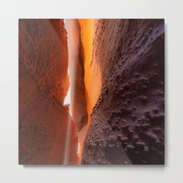 Slot Canyon Lighting Metal Print