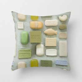 Soap Collection Spa Wellness Photography Throw Pillow