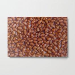 Baked Beans Pattern Metal Print