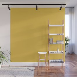 Mustard Yellow  Solid Colour Wall Mural
