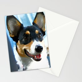 Tri Color Welsh Pembroke Corgi Stationery Cards