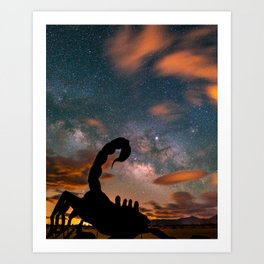 Milky Way over Scorpion, Borrego Springs, CA Art Print