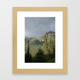 ALASKAN DOUBLE RAINBOW Framed Art Print