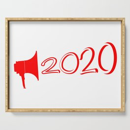 Red 2020 Megaphone Serving Tray