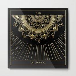 Le Soleil (The Sun) Tarot Card Metal Print