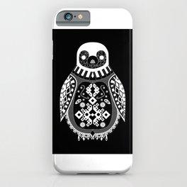 Black Penguin Ecopop iPhone Case