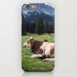 Cows in the Alps iPhone Case