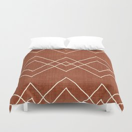 Nudo in Rust Duvet Cover
