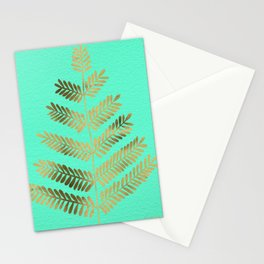 Leaflets – Turquoise & Gold Stationery Cards
